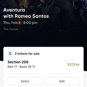 Aventura tickets